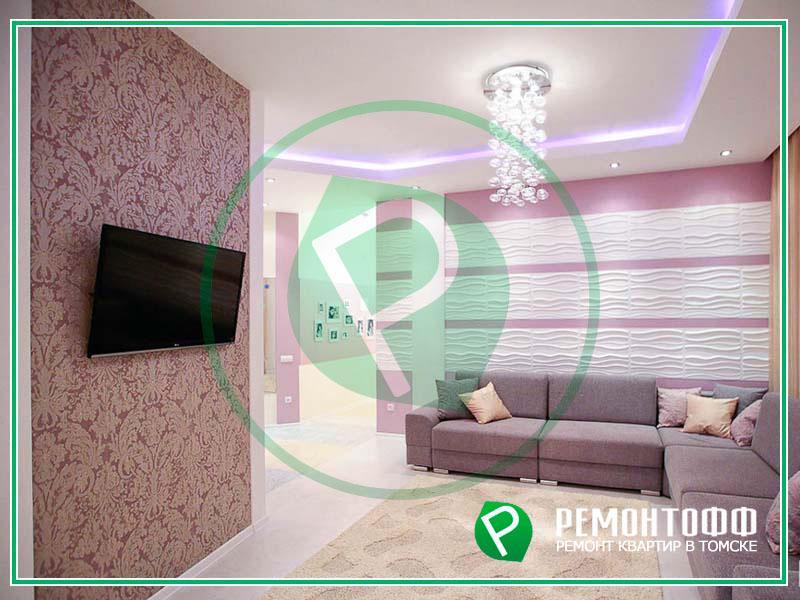 Ремонт квартиры под ключ в Томске 98м2. Полный комплекс по ремонту квартир от дизайн-проекта до узаконивания перепланировки. Гарантия на ремонт!
