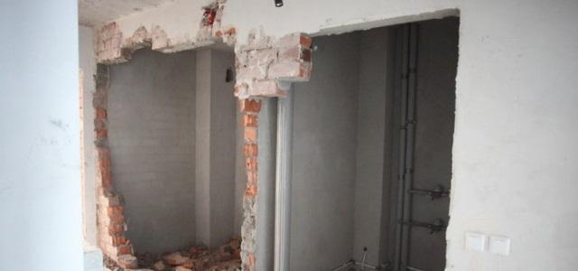 демонтаж стен при перепланировке